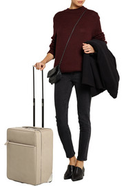 Valextra 48 Hours textured-leather travel trolley