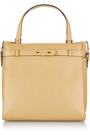 Valextra B-Cube large textured-leather tote