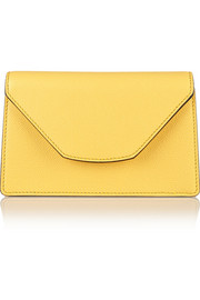 Valextra Mini textured-leather clutch