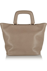 Valextra Meneghina small textured-leather tote