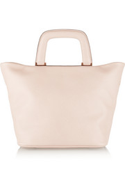 Meneghina small textured-leather tote