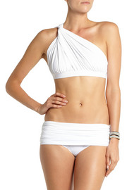 Norma Kamali Ruched one-shoulder bikini top