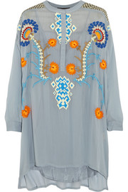 Vineet Bahl Embroidered georgette tunic