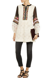 Vineet Bahl Lace, embroidered chiffon and tulle tunic