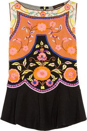 Vineet Bahl Embroidered crepe top