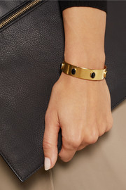 Finds + Ela Stone Talla gold-plated agate cuff