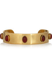 Finds + Ela Stone Simone gold-plated agate cuff