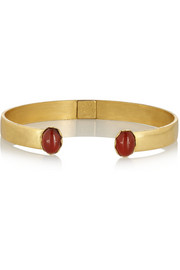 Finds + Ela Stone Liad gold-plated agate cuff