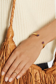 Finds + Ela Stone Liad gold-plated amethyst cuff