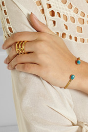 Finds + Ela Stone Simone gold-plated turquoise cuff