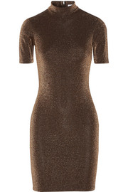 + NOMIA metallic stretch-knit mini dress