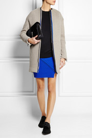 Opening Ceremony Zip-detailed ribbed wool mini skirt