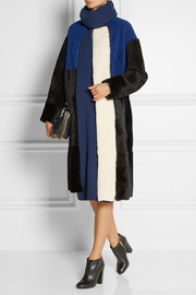 Opening Ceremony Sophie color-block shearling coat