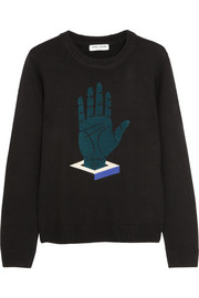 Opening Ceremony Flocked embroidered merino wool sweater