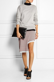 Opening Ceremony Asymmetric striped jacquard-knit skirt