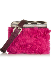 House of Holland The It Bag calf hair, shearling and metallic leather shoulder bag