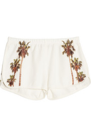 Finds + All Things Fabulous LA printed cotton-blend terry shorts