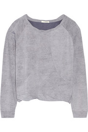 Pima cotton-jersey sweatshirt