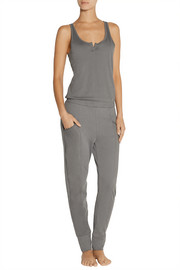 Brushed Pima cotton-jersey jumpsuit