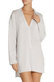 Pima cotton-jersey and voile nightdress