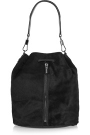 Elizabeth and James Cynnie Sling leather-trimmed calf hair backpack