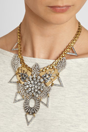 Lulu Frost Gold-plated Swarovski crystal necklace