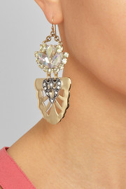Lulu Frost Gold-plated Swarovski crystal earrings