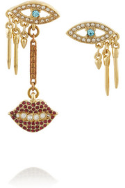 Lulu Frost Dada Drop gold-plated crystal earrings