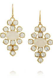 Lulu Frost Empress gold-plated resin and crystal earrings