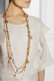 Rosantica La Forza gold-dipped agate necklace