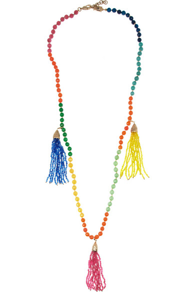 Sale alerts for Himalaya gold-dipped agate necklace Rosantica - Covvet