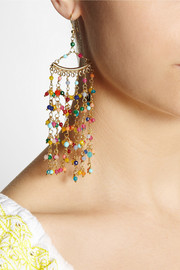 Rosantica L'imperatrice gold-dipped agate earrings