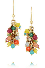Rosantica Il Mondo gold-dipped agate earrings