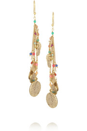 Rosantica L'Eremita gold-dipped agate earrings