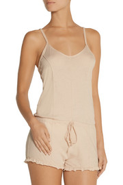 Skin Pima cotton-jersey playsuit