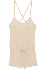 Pima cotton-jersey playsuit