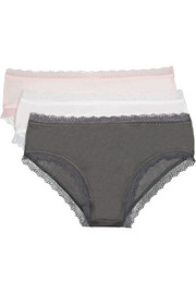 Skin Set of three Pima cotton-jersey briefs