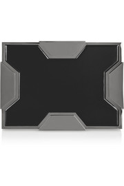Lee Savage Space large two-tone box clutch