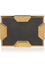Lee Savage Space small two-tone box clutch