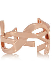 Saint Laurent Monogramme rose gold-plated cuff
