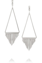 Saint Laurent Silver-plated earrings