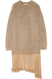 No. 21 Mohair-blend and silk-chiffon dress