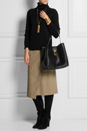 Oscar de la Renta Sloane leather and calf hair tote