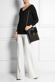 Oscar de la Renta Slim Sloane leather and calf hair shoulder bag