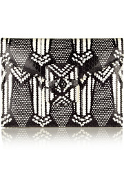 Oscar de la Renta Grafton small printed elaphe clutch