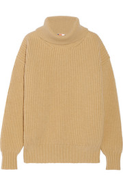 MSGM Ribbed wool and cashmere-blend turtleneck sweater
