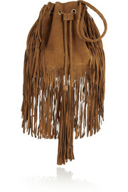Antik Batik Bertil fringed suede shoulder bag