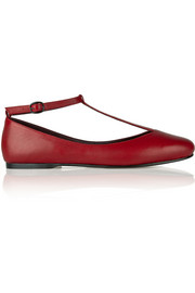 Caroline leather T-bar ballet flats