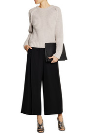 Cédric Charlier Pleated twill culottes