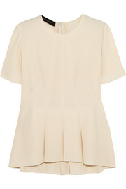 Cédric Charlier Pleated crepe top